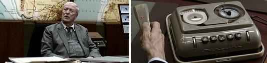 Майкл Кейн и архаичный магнитофон