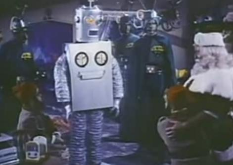 santa i robot
